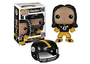 Pop! Football NFL Vinyl Figure Troy Polamalu (Pittsburg Steelers) #20 (Retired)