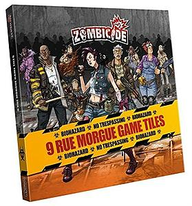 Zombicide: 9 Rue Morgue Game Tiles Expansion Pack