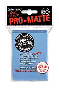 Non-Glare Pro-Matte: Light Blue Standard Card Sleeves (66mm x 91mm)