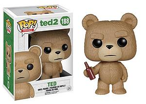 Pop! Movies Ted 2 Vinyl Figure Ted with Beer #188 (Vaulted)