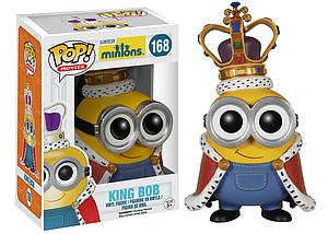 Pop! Movies Minions Vinyl Figure King Bob #168 (Vaulted)