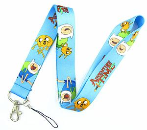 Adventure Time Lanyard Finn & Jake (Light Blue)