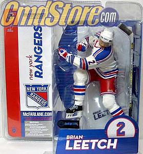 NHL Sportspicks Series 9 Brian Leetch (New York Rangers) White Jersey Variant