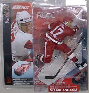 NHL Sportspicks Series 2 Brett Hull (Detroit Red Wings) Red Jersey Variant