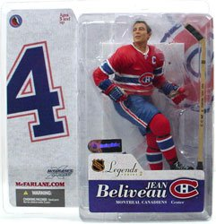 NHL Sportspicks Legends Series 2 Jean Beliveau (Montreal Canadiens) Red Jersey