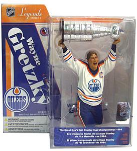 NHL Sportspicks Legends Series 4 Wayne Gretzky with Stanley Cup (Edmonton Oilers) White