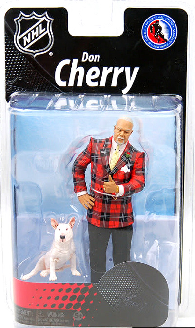 NHL Sportspicks Grosnor Series Don Cherry with Blue Red Plaid (Support our Troops) Jersey Exclusive