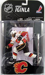 NHL Sportspicks Grosnor Series Jarome Iginla (Calgary Flames) White Jersey Exclusive (Alternate Barcode)