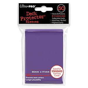 Purple Standard Card Sleeves (66mm x 91mm)