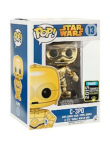Pop! Star Wars Vinyl Bobble-Head C-3PO (Chrome Metallic) #13 2015 Summer Convention Exclusive