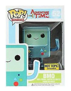Pop! Television Adventure Time Vinyl Figure BMO Metallic #52 Hot Topic Exclusive
