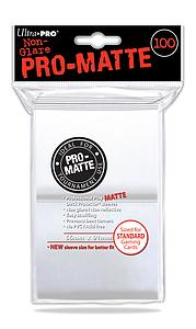 Non-Glare Pro-Matte: White Standard Card Sleeves (66mm x 91mm)