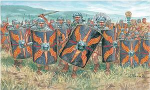 Caesar's Wars Imperial Age Roman Infantry Miniatures Model Kit (1:72 Scale)