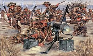 World War II British Infantry Miniatures 1:72 Scale Model Kit  (ITA6056)