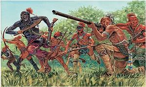American Independence War Indian Warriors Miniatures Model Kit (1:72 Scale)