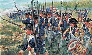 American Independence War American Infantry Miniatures Model Kit (1:72 Scale)