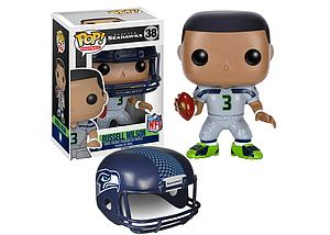 Pop! Football NFL Vinyl Figure Russell Wilson (Seattle Seahawks) #38 (Retired)