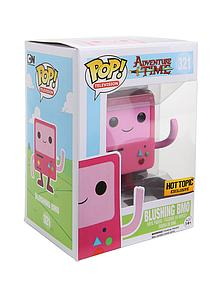 Pop! Television Adventure Time Vinyl Figure Blushing (Pink) BMO #321 Hot Topic Exclusive