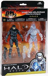 "Halo Reach 6"" Series 4 Two-Pack: Spartan Hologram Noble Six & Hologram"