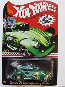 Hot Wheels 2012 Collector Edition Cars Die-Cast: Custom '56 Volkswagen Drag Beetle