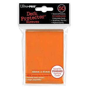 Orange Standard Card Sleeves (66mm x 91mm)