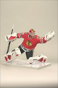 NHL Sportspicks Series 27 Marty Turco (Chicago Blackhawks) Red Jersey