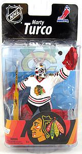 NHL Sportspicks Series 27 Marty Turco (Chicago Blackhawks) White Jersey Collector Level Bronze