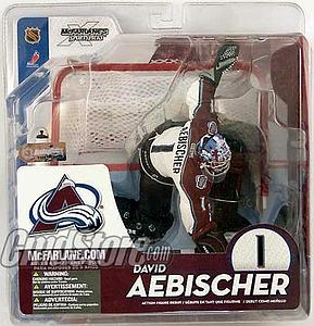 NHL Sportspicks Series 10 David Aebischer (Colorado Avalanche) White Jersey Variant
