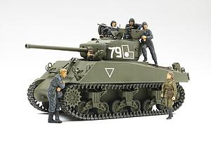 M4A2(76)W Sherman - 1/35 Red Army with 6 Figures (25105)
