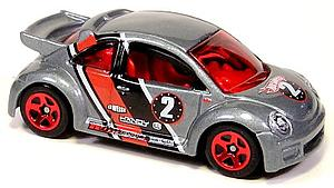 Hot Wheels Cars Die-Cast: Volkswagen New Beetle Cup (Solid Rim)