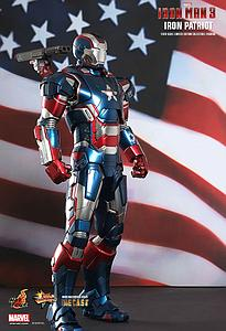 Marvel Iron Man 3 (2013) 1/6 Scale Figure Iron Patriot DieCast Movie MasterPiece