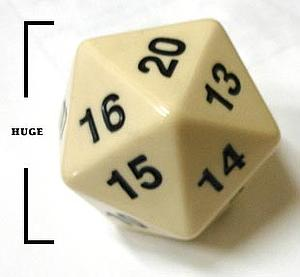 Koplow Dice Giant D20 - White