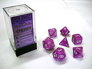 Dice 7-Piece Polyhedral Set - Opaque Light Purple w/White