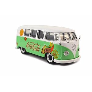 1959 Cocal-Cola Volkswagen Samba Bus Flower Version with Metal Top (820058)