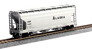ACF 3560 3-Bay Covered Hopper - Alaska Railroad (20001135)