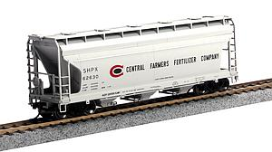 ACF 3560 3-Bay Covered Hopper - Central Farmers Fertilizer (20001137)