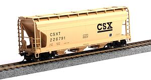 ACF 3560 3-Bay Covered Hopper - CSX  (20001144)