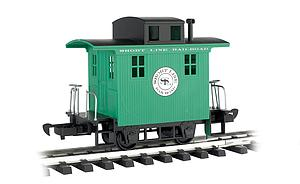 Caboose Short Line Railroad - Green With Black Roof (98099)