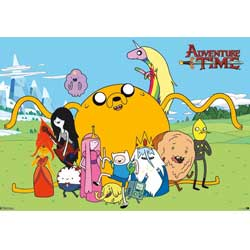 Adventure Time 300pc Puzzle Jake & Friends with Poster
