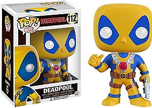 Pop! Marvel Deadpool Movie Vinyl Bobble-Head Deadpool (Yellow) (Thumb-Up) #112 Amazon Exclusive (No Sticker)