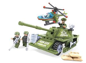 Brictek Army Set: Tank & Helicopter