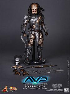 AVP Alien vs. Predator (2004) 1/6 Scale Figure Scar Predator