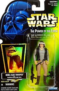 Star Wars The Power of the Force Rebel Fleet Trooper with Blaster Pistol