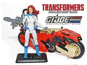 G.I. Joe Transformers Marissa Faireborn with Afterbreaker Transformers Collector's Club Exclusive