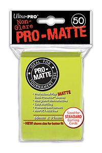 Non-Glare Pro-Matte: Bright Yellow Standard Card Sleeves (66mm x 91mm)