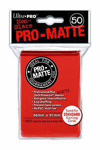 Non-Glare Pro-Matte: Peach Standard Card Sleeves (66mm x 91mm)
