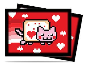 Card Sleeves 50-pack Standard Size: ValentNyan Cat