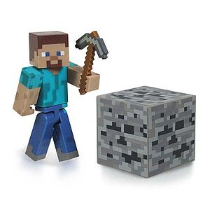 "Minecraft 3"" Figures Series 1: Steve with Accessory"