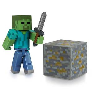 "Jazwares Minecraft 3"" Figures: Zombie with Accessory"