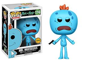 Pop! Animation Rick & Morty Vinyl Figure Mr. Meeseeks (Gun) #174 (Chase)
